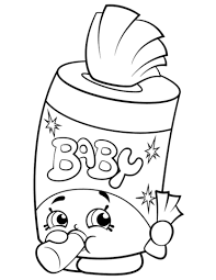 Click To See Printable Version Of Baby Swipes Shopkin Coloring Page