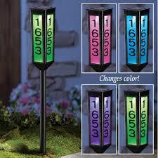 Decorative Reflective Driveway Markers by Amazon Com Solar Address Marker Stake Black Patio Lawn U0026 Garden