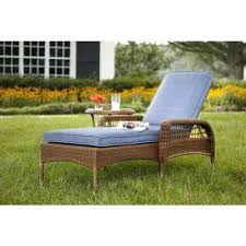 Walmart Patio Chaise Lounge Chairs by Brown Woven Outdoor Chaise Lounge White Cushion Chair With