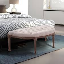 homcom polsterbank sitzbank lounge sitzhocker vintage retro mit knöpfen sofa leinen holz beige 140 5 x 51 x 48 cm