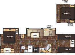 Travel Trailer Floor Plans With Bunk Beds by Forest River Greywolf Rvs For Sale In Louisiana