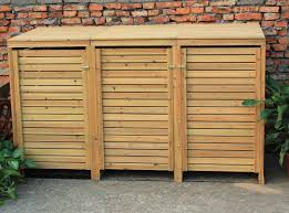 Metal Storage Sheds Amazon by Bentley Garden Wooden Outdoor Triple Wheelie Bin Storage Garden
