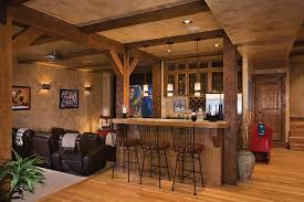 Country Style Basement with Movie Theater