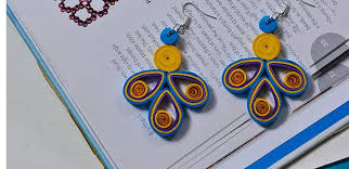DIY Handmade Quilling Paper Flower Drop Earrings Easily