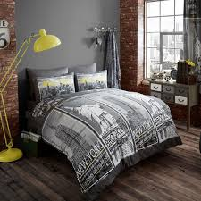 100 New York Style Bedroom City Skyline Bedding NYC Themed Ideas Total Fab