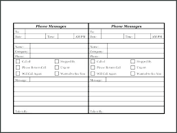 Voice Messages Examples Printable Phone Message Log Sheet Design Telephone Book Template Editable Office Depot Paper