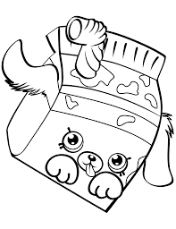 Related Coloring Pages Milk Bud Shopkin Season 4