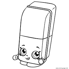 Free Erica Eraser Shopkins Season 3 Coloring Pages