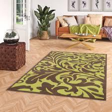 designer teppich braun grün barock