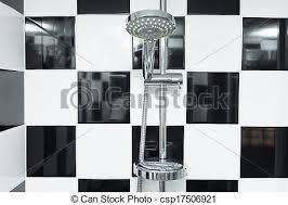 kopf checkered modern badezimmer dusche schwarz weißes