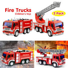 100 Fire Trucks Toys Engine Truck Rescue LightSound Red Car Vehicles Model