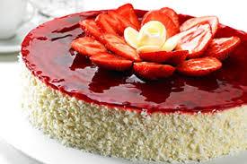 gefrorener joghurt marmeladen kuchen mit keksboden