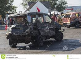 100 Wrecked Truck During The Demolition Derby Editorial Image Image Of