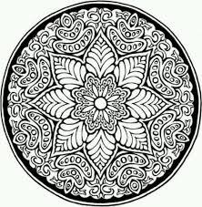 Mosaic Patterns Coloring Pages Az For Flower Design