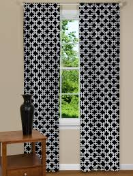 Geometric Pattern Sheer Curtains by Geometric Curtains White And Brown Geometric Curtains Brown And