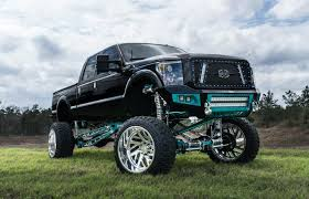 Fully Custom Black F250 With A Massive Lift And 40