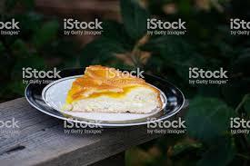 köstlicher kuchen mit aprikosenmarmelade auf einem teller crostata mit marmelade oder pfirsichmarmelade füllung hausgemachtes dessert mit