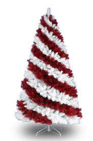 Red White Artificial Christmas Tree