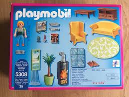 playmobil dollhouse 5308 wohnzimmer mit kaminofen