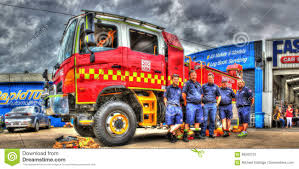 Australian Fire Truck And Firemen Editorial Photo - Image Of ...