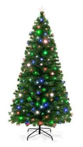 Christmas Tree Best Choice Products 7ft Pre Lit Fiber Optic Artificial 280 UL