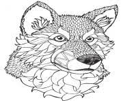 High Quality Wolf Mandala Adult Coloring Pages