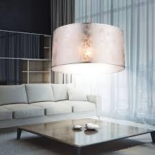 design led decken pendel hänge le leuchte textil