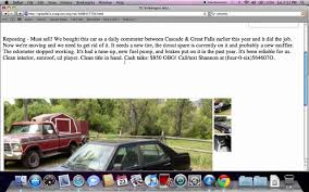 Craigslist Montana Cars And Trucks By Owner | Tokeklabouy.org Vehicle Shipping Scam Ads On Craigslist Update 022314 Vehicle Auto Advantage 24 Photos 80 Reviews Car Dealers 1150 W Craigslist Dallas Cars And Trucks For Sale By Owner New Models Used July 28th By Private 4000 Ford Focus The Ten Best Places In America To Buy A Off Detroit Dealer Wordcarsco Montana Open Source User Manual Top For In Mi Savings From 3689 Weird Chevrolet Pickup Roadster Hot Rod Probably Inspired The Ssr Free Guide Near Me Wiring Diagrams