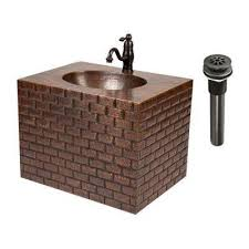 copper wall mount sinks bathroom sinks the home depot