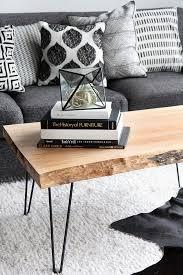 my diy wood slab coffee table