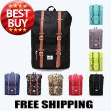 Herschel Style Men Women Outdoor Camping Hiking Travel Backpack Bag Laptop Backpacks