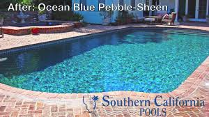 Npt Pool Tile Palm Desert by Ocean Blue Pebble Sheen Pool Remolding Pinterest California