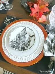 DecorationPorcelain Dinnerware Rustic Casual Halloween Salad Plates Square Sets Stoneware