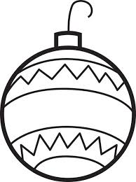 Printable Christmas Ornament Coloring Page For Kids