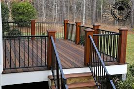 Patio And Deck Combo Ideas by Don U0027t Like Wood Posts W O Wood Railing Feels Disconjointed