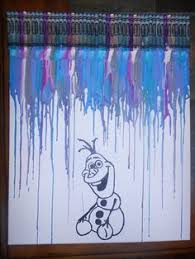Frozen Inspired Melted Crayon Painting