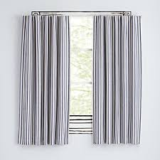 Land Of Nod Blackout Curtains by Striped Curtains The Land Of Nod