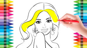 Coloring Pages BARBIE Doll Colouring Pictures For Kids With Colored Markers Book