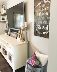 Split Level Living Room Decor Farmhouse Style Rustic
