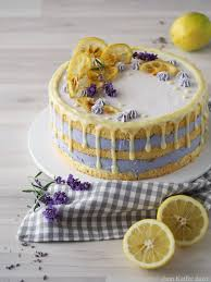 zitronen lavendel torte mit weißer schokolade rezeptebuch