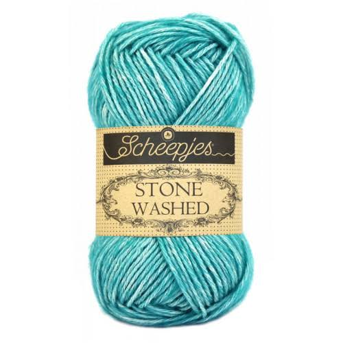 Scheepjes Stone Washed Yarn - 815 Green Agate, 50g