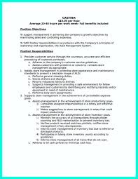 Sample Cashier Resume Examples Best Of Retail New For