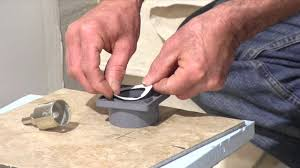 Tile Hole Saw Kit by How To Cut A Hole In Porcelain Tile Youtube