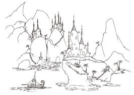 Coloring Pages A Monkey Sailing Into Village Of Alligators
