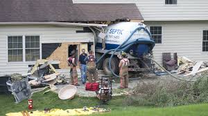 Septic Truck Crashes Into Bucks House, Leaks Fluids - The Morning Call