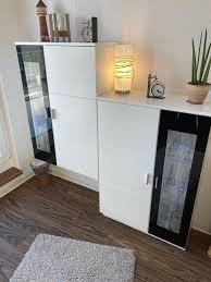 2 wohnzimmer hängeschrank wohnwand vitrine mit led beleuchtung