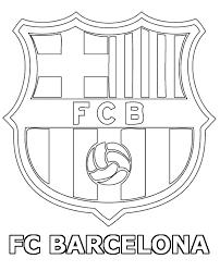 Striker Player FC Barcelona Crest Dribbler Print And Color