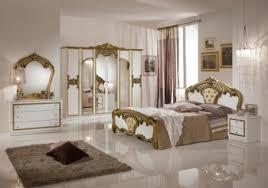 italienische schlafzimmer schlafzimmerset weiß gold