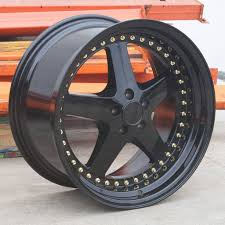 100 18x10 Truck Wheels 18x855 ESR SR04 SR4 5x120 3022 Gloss Black Rims Set
