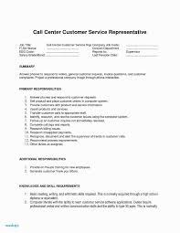 Sample Resume For Call Center Customer Service Representative Beautiful